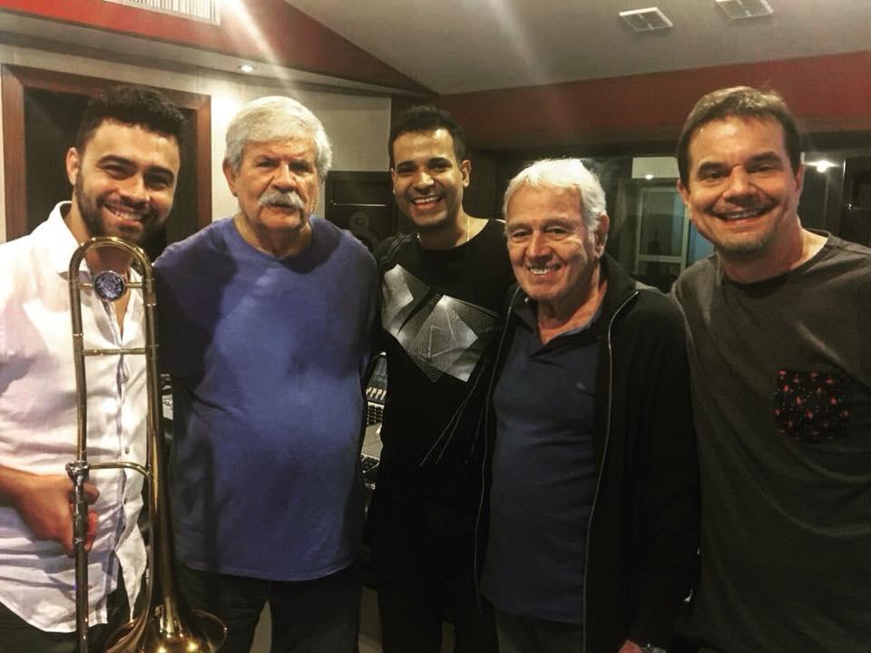 Com Dory Caymmi e Carlos Lyra