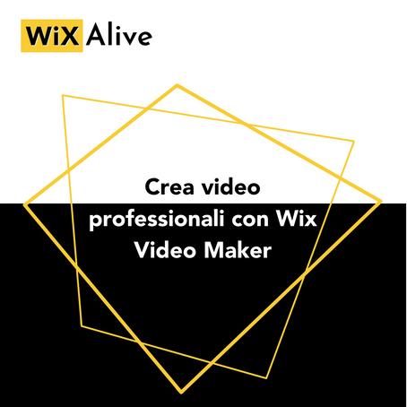 Crea video professionali con Wix Video Maker