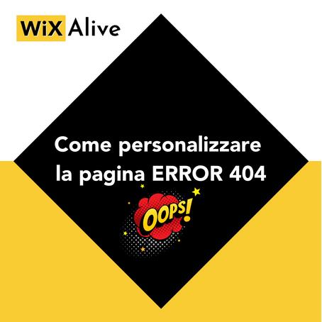 Come personalizzare la pagina Error 404?