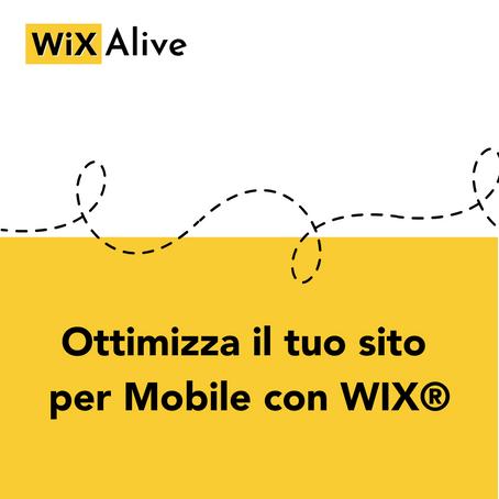 Come ottimizzare sito per mobile con WIX®