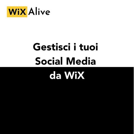 Gestisci i tuoi Social Media da WIX