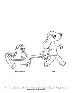 Download Gus and Iggy Coloring PDF