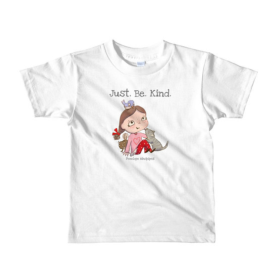 Penelope Windpipes - Just Be Kind - Short sleeve kids T-shirt
