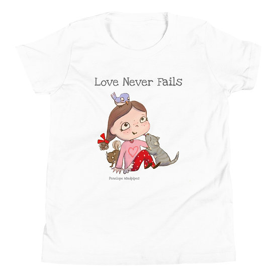 Penelope Windpipes - Love Never Fails - Youth Short Sleeve T-Shirt