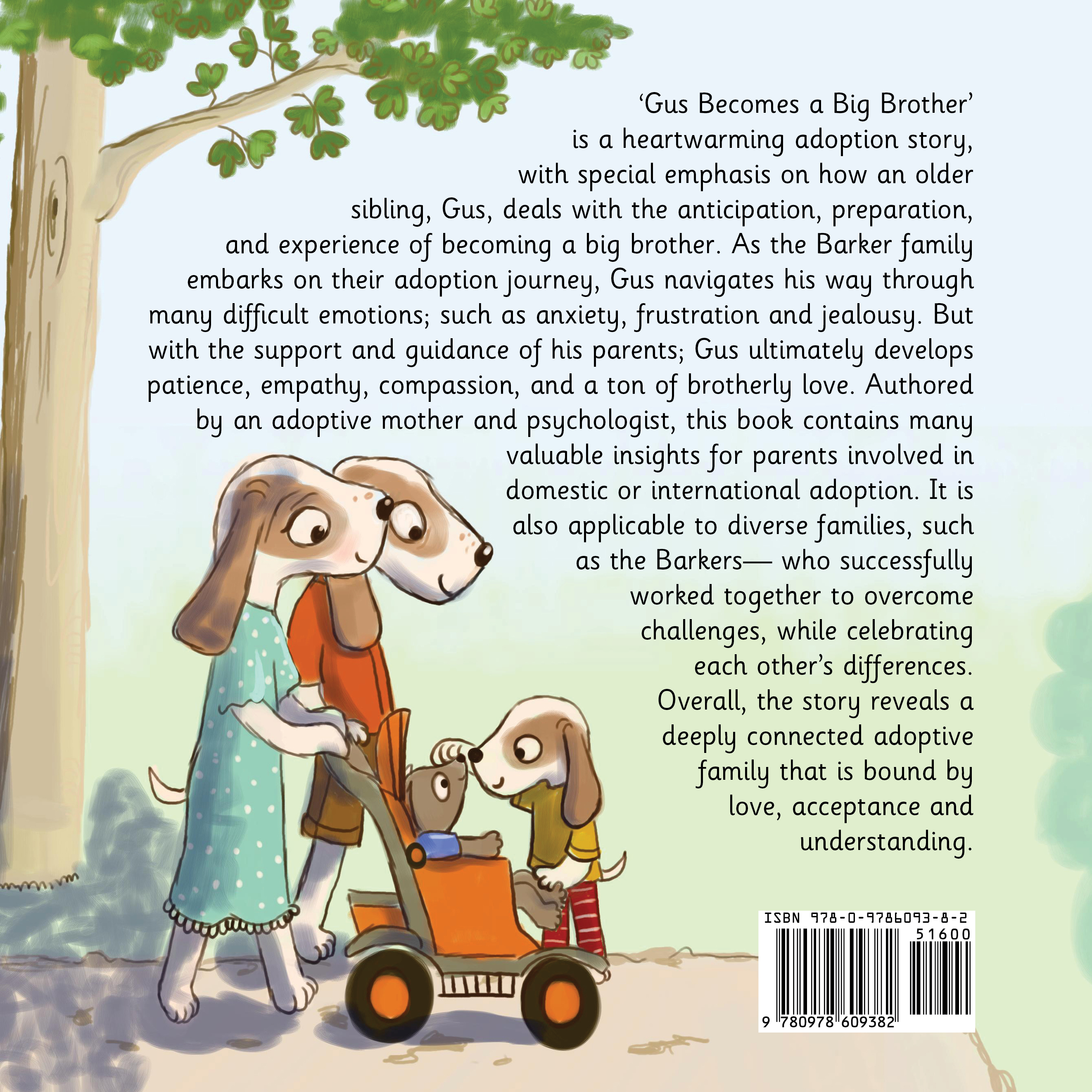 Gus Becomes a Big Brother - Back Cover