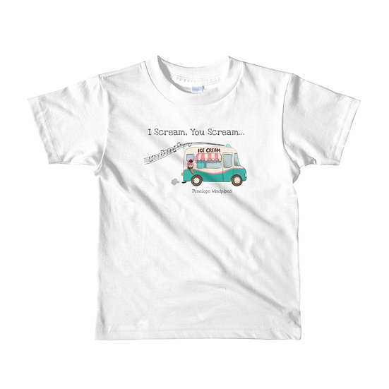 Penelope Windpipes - I Scream, You Scream... - Short sleeve kids T-shirt
