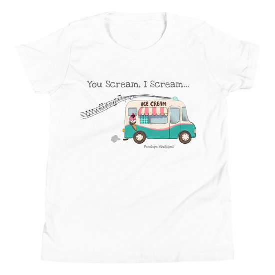 Penelope Windpipes - You Scream, I Scream... - Youth Short Sleeve T-Shirt