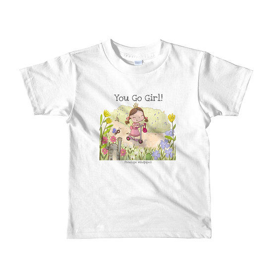Penelope Windpipes - You Go Girl! - Short sleeve kids T-shirt