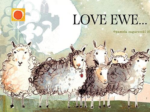 518 Love Ewe Sacredbee Greeting Card