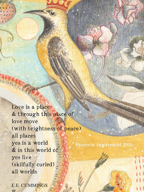 532 Love Is A Place Sacredbee Greeting Card