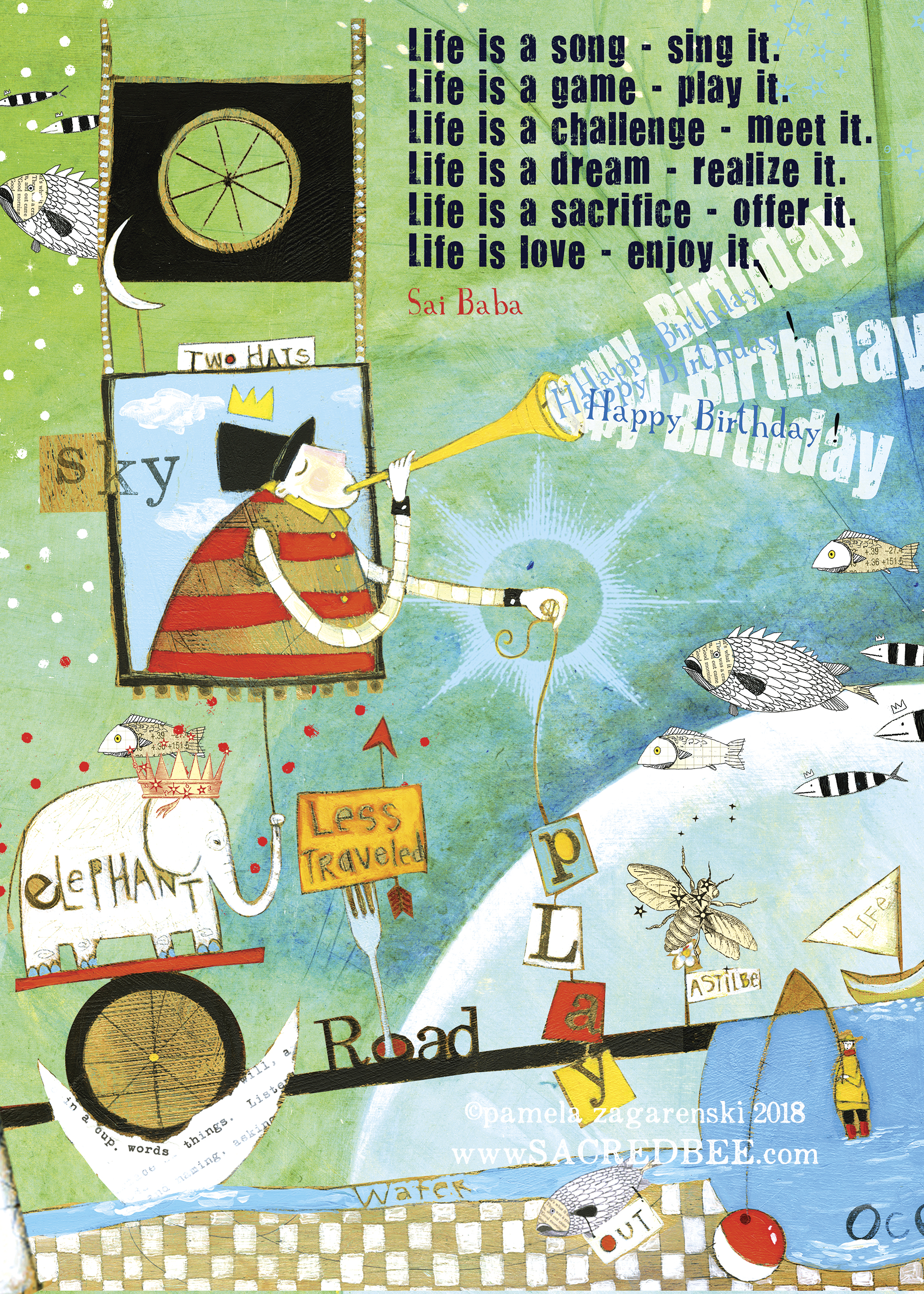 158 Life Birthday Card