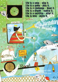 158 Life Birthday Card