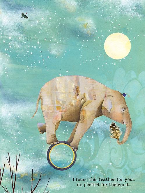 470 Luka's Feather Sacredbee Greeting Card
