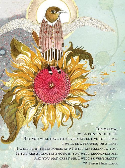 551 Sacredbee Tomorrow Greeting Card