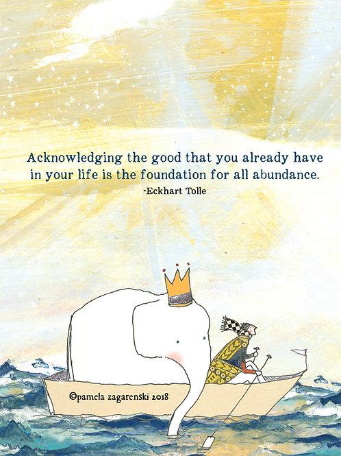 505 Acknowledging - Sacredbee greeting card