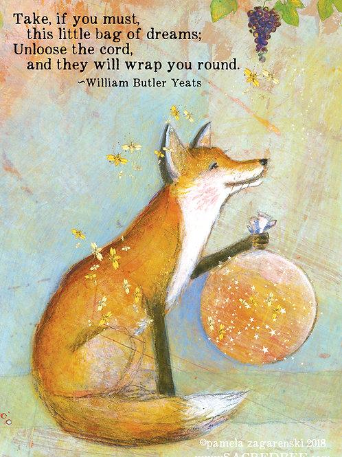 477 Bag of Dreams Sacredbee Greeting Card