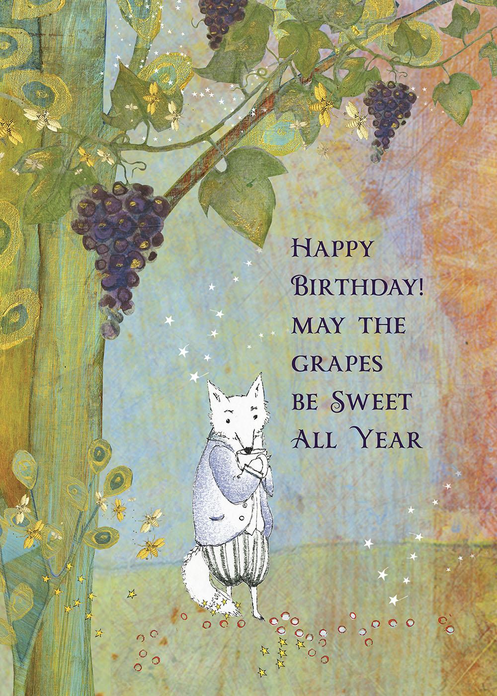 495 Sweet Grapes Greeting Card