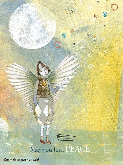 464 Find Peace Sacredbee Greeting card