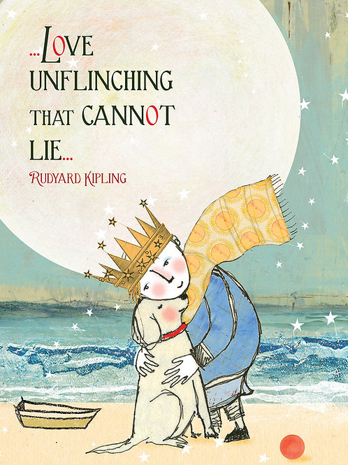 405 Love Unflinching Sacredbee Greeting card