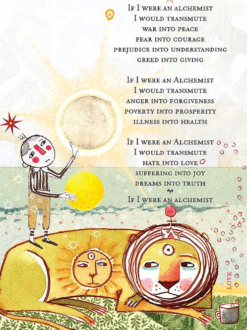 375 The Alchemist Sacredbee Greeting Card
