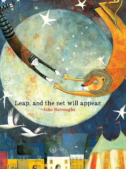 493 Leap - Sacredbee greeting card