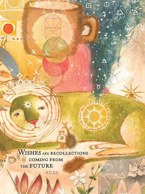 526 Lion's Wish Card Sacredbee Greeting Card