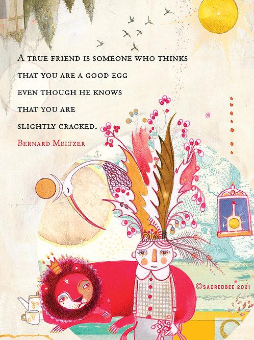 549 Good Egg  Sacredbee Greeting Card