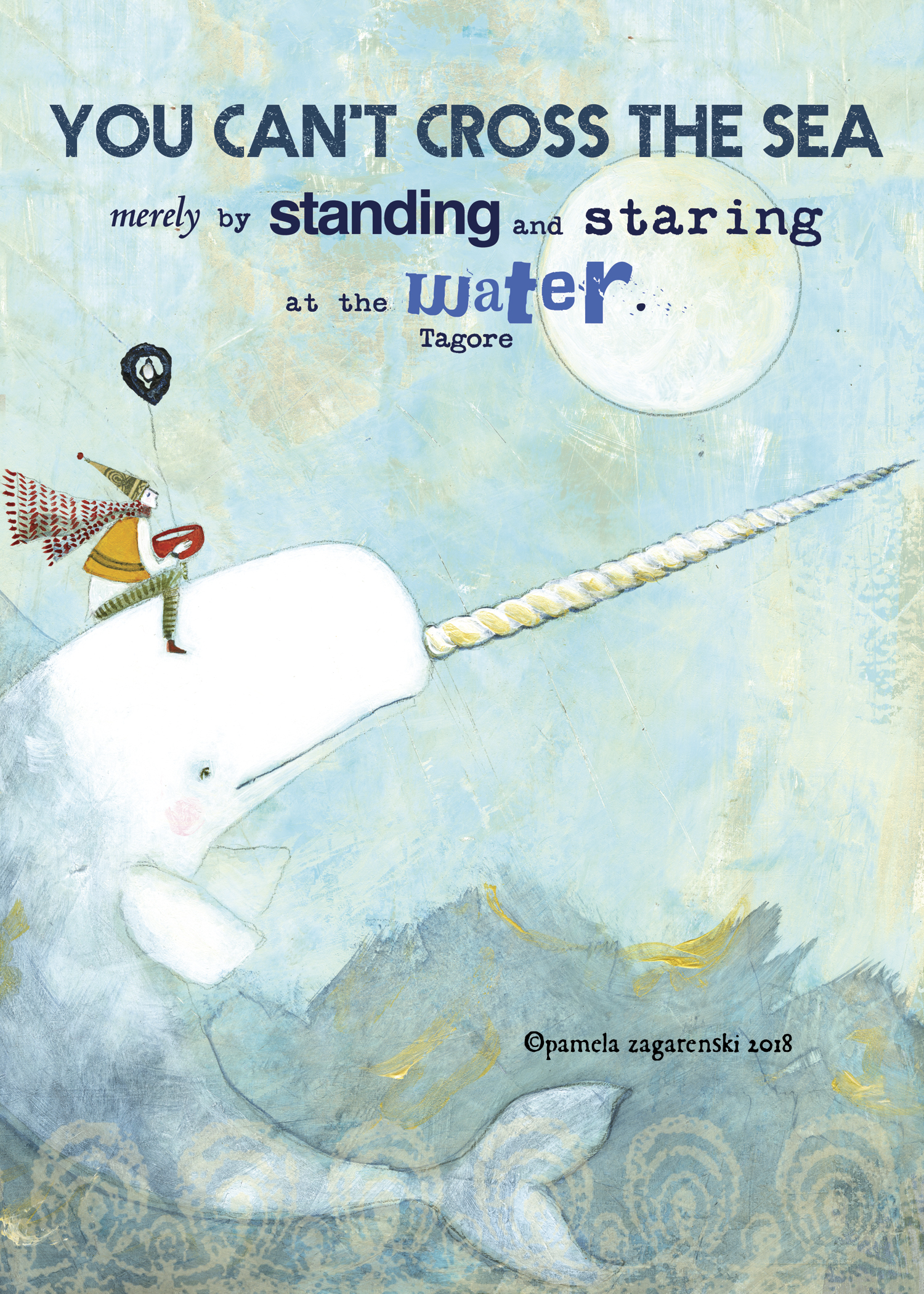 503 Narwhal Greeting Card