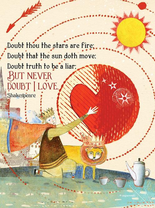 498 Never Doubt  Sacredbee greeting card