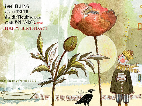 183 Birthday Splendor Sacredbee Greeting Card