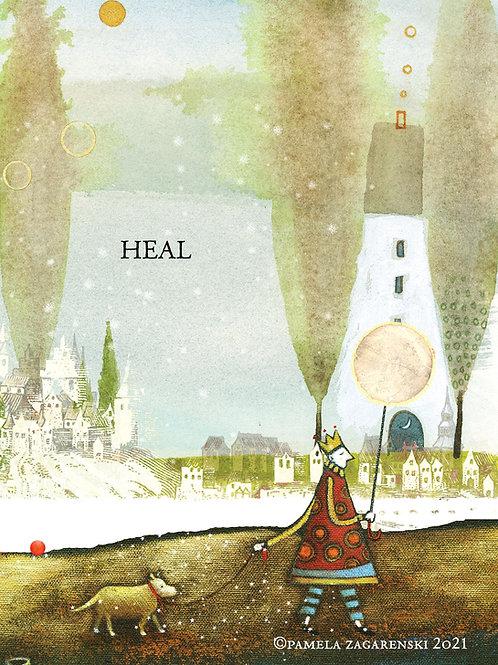552 Sacredbee Greeting Card Heal