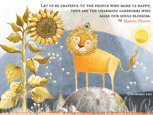 548 Souls Blossom  Sacredbee Greeting Card