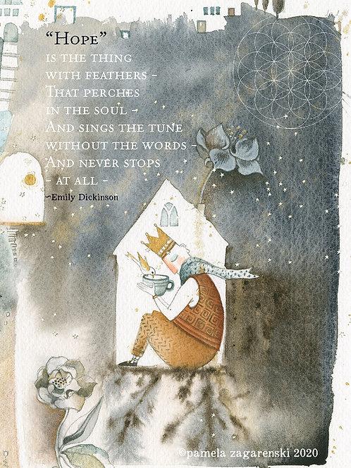 525 Hope Card Sacredbee Greeting Card