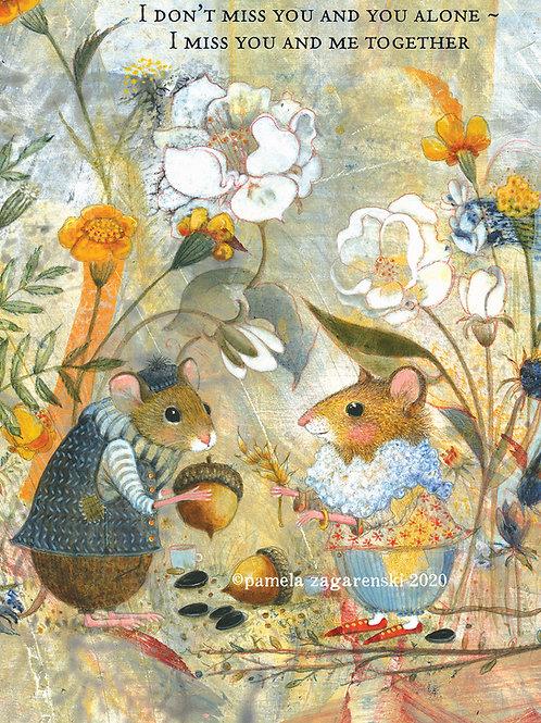 534 Aesop's Mice Sacredbee Greeting Card