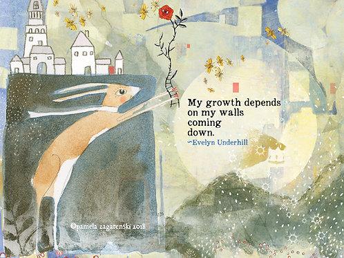 502 Growth - Sacredbee greeting card