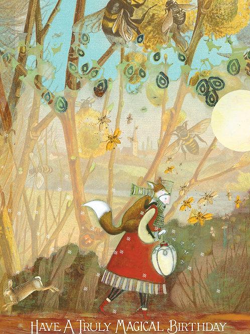 413 Magical Birthday Sacredbee Greeting Card