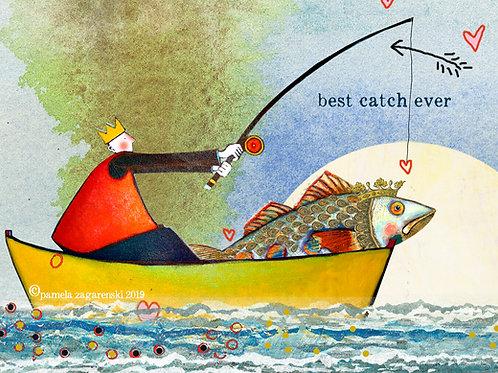 488 Best Catch Sacredbee Greeting Card