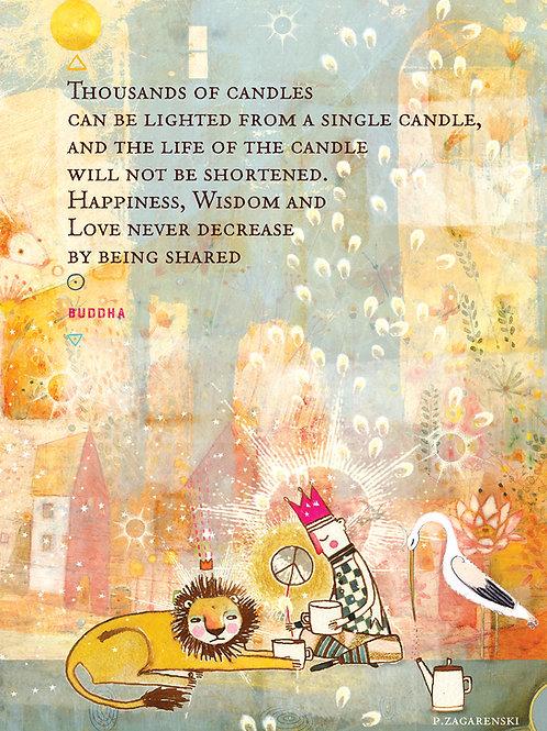 530 The Buddha Sacredbee Greeting Card