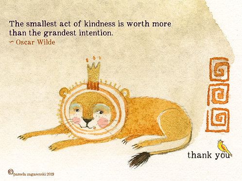 510 Smallest Acts - Sacredbee greeting card