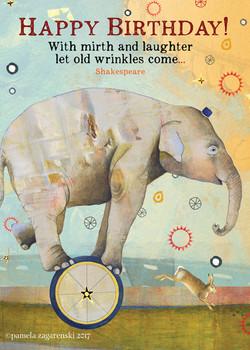 459 Wrinkles Birthday Card