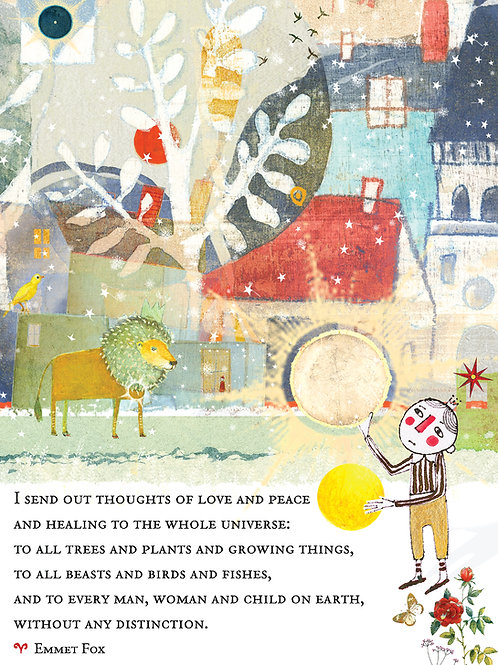370 Thoughts of Love and Peace Sacredbee Greeting Card