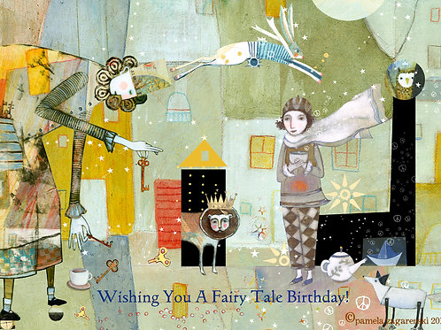 467 Fairy Tale Birthday Sacredbee Greeting Card