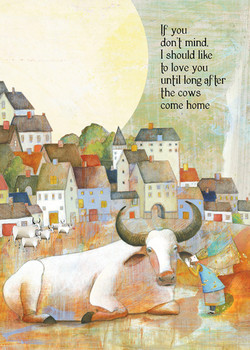 104 cows come home Greeting Card
