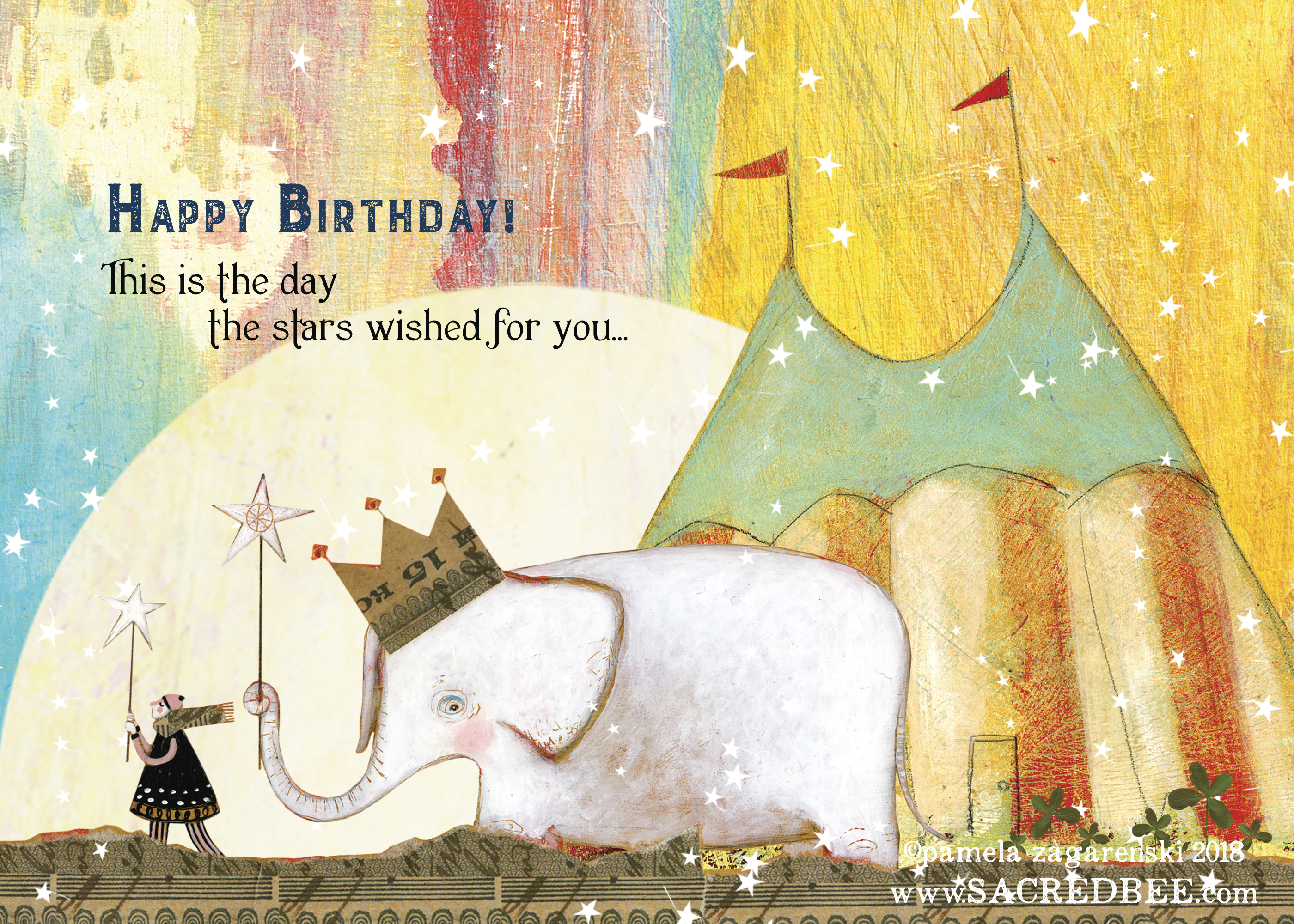 482 Birthday Star Birthday Card