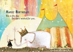 482 Birthday Star Birthday Card