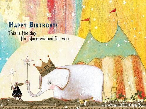 482 Birthday Star Sacredbee Greeting Card
