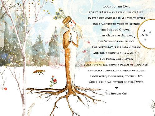 372 Tree Sacredbee Greeting Card