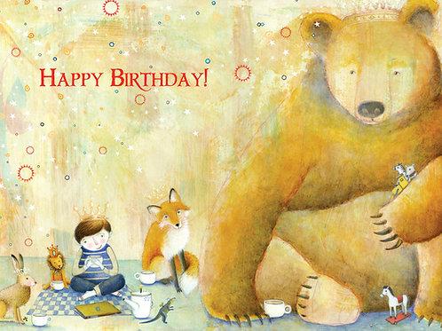 466 Leo's Birthday Sacredbee Greeting Card