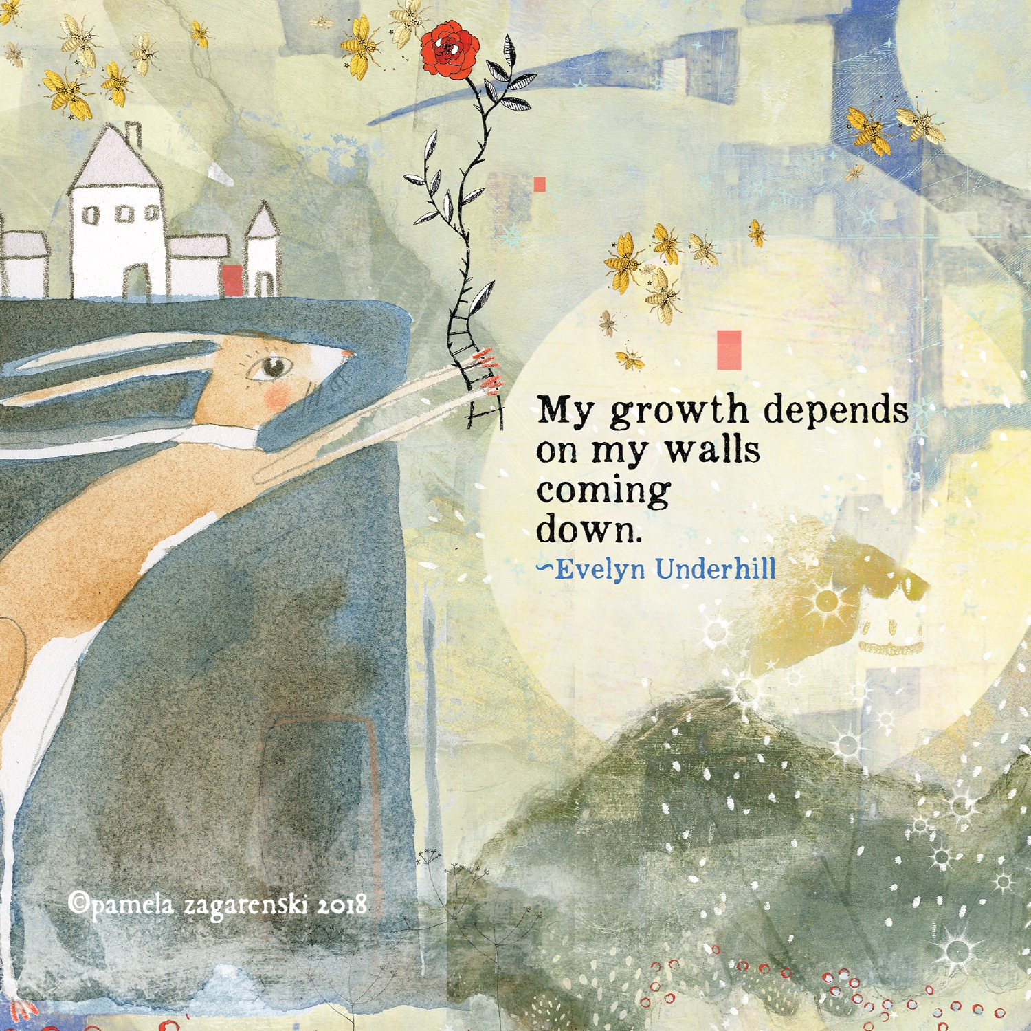 502 Growth Sacredbee Greeting Card