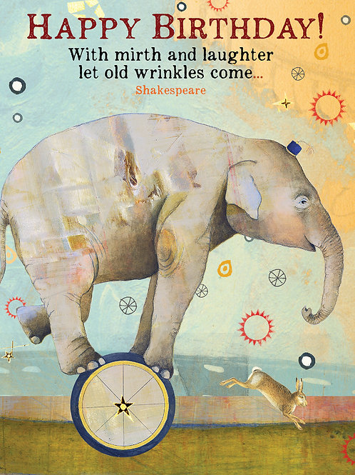 459 Wrinkles Birthday Sacredbee Greeting Card